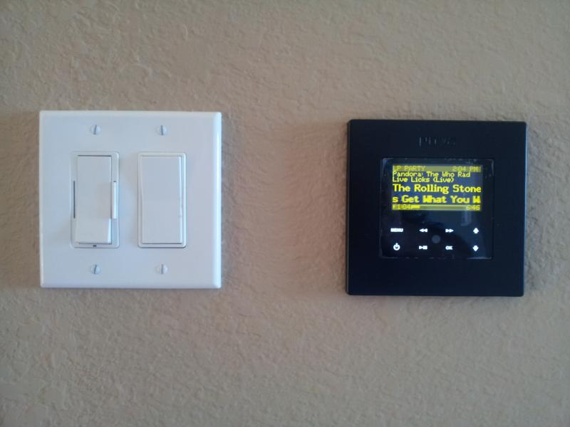 Delightful Control Pad That Can Be Installed In Each Room Conected To System.